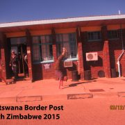 2015 Botswana Border Post w Zimbabwe