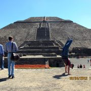 2012 Mexico Pyramid of Sun From Foot