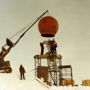 First Satellite Link at South Pole