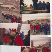 1993 Dec Raising Refurbished Cross on Ob Hill